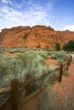 Hiking Path in Snow Canyon - Utah Stock Image
