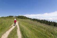 On hiking path Royalty Free Stock Image