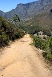 Hiking Path on table Mountain, South Africa Stock Photo