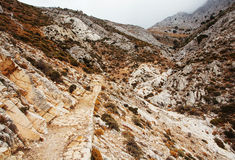 Hiking Path to Mount Zas in Naxos Island, Greece. Royalty Free Stock Images