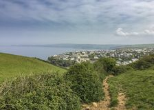 Hiking Path to Port Isaac royalty free stock photography