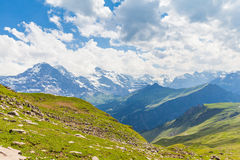 On the hiking path towards Eiger north face Royalty Free Stock Photography