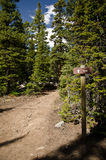 Hiking path and trail sign Royalty Free Stock Images