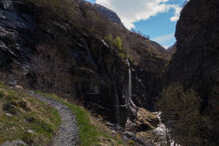 Hiking path in Valley of Aurland, Aurlandsdalen, Norway Royalty Free Stock Image