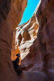 Hiking Peekaboo Slot Canyon Royalty Free Stock Photos