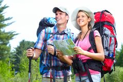 Hiking people Royalty Free Stock Photos