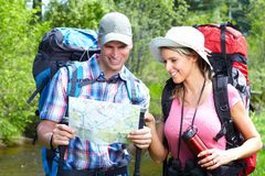 Hiking people royalty free stock images