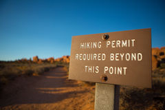 Hiking permit required Stock Photography