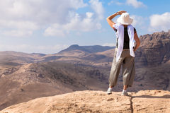 Hiking in Petra Royalty Free Stock Photo