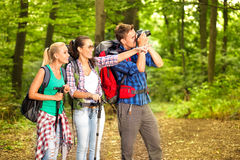 Hiking photographer Royalty Free Stock Photography