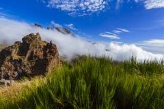 Hiking Pico do Arierio and Pico Ruivo - Madeira Portugal Royalty Free Stock Images
