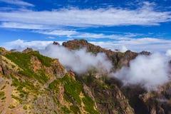 Hiking Pico do Arierio and Pico Ruivo - Madeira Portugal Royalty Free Stock Photos