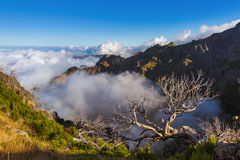 Hiking Pico Ruivo and Pico do Arierio - Madeira Portugal Royalty Free Stock Photography