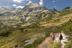 Hiking Pirin Mountains Stock Photos