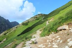 Hiking in Poland Royalty Free Stock Photo