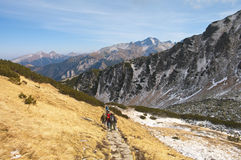 Hiking in the Polish Tatra. Polish Tatra mountains near Zakopane Royalty Free Stock Image