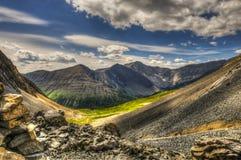 Hiking Ptarmigan Cirque. Scenic summer mountain hiking landscapes of Ptarmigan Cirque, Peter Lougheed Provincial Park Kananaskis Country Alberta Canada Stock Image