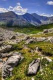 Hiking Ptarmigan Cirque. Scenic summer mountain hiking landscapes of Ptarmigan Cirque, Peter Lougheed Provincial Park Kananaskis Country Alberta Canada Stock Images