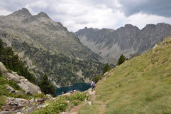 Hiking in Pyrenees Royalty Free Stock Image