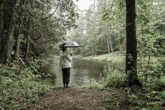 Hiking in the rain Stock Photos