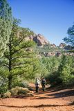Hiking in Red Rocks Royalty Free Stock Photo