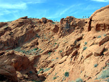 Hiking within the Redstone area in Lake Mead Recreation area Royalty Free Stock Images