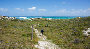 Hiking Remote Rottnest Island Stock Photo