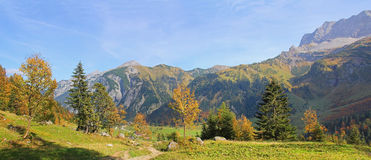 Hiking resort karwendel in autumn, austria Stock Photo