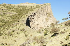 Hiking on ridge tour in Simien mountains Stock Photography