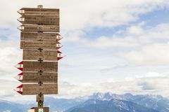 Hiking at the Rittner Horn, South Tyrol, Italy royalty free stock photography