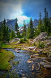 Hiking in Rocky mountains. National park, Colorado Royalty Free Stock Photography