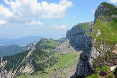Hiking in Rofan mountain aeria in Tyrol (Austria).  stock image