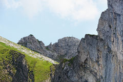 Hiking in Rofan mountain aeria in Tyrol (Austria).  stock photography