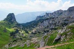 Hiking in Rofan mountain aeria in Tyrol (Austria).  stock photos