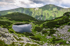 Hiking in Rohace (Western-Tatras), Slovakia. Hiking in Rohace (Western-Tatras) around Rohacske plesa, Slovakia stock image