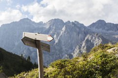 Hiking route indicator. Stock Image