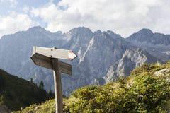 Hiking route indicator. Stock Image
