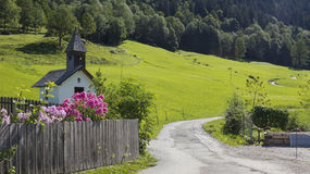 Hiking route to graseck, nearby garmisch Stock Images