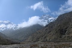 Toubkal Mountain Morocco stock images