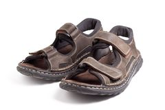 Hiking sandals royalty free stock image