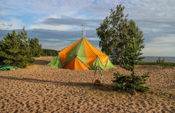 Hiking sauna. The Gulf of Finland. Stock Photos