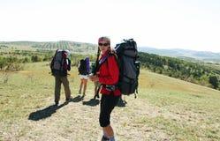 Hiking scene Stock Images