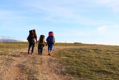 Hiking scene royalty free stock photo