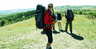 Hiking scene Stock Photography