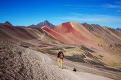 Rainbow mountain Royalty Free Stock Photo