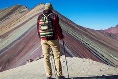 Rainbow mountain Stock Images