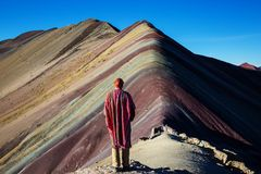 Rainbow mountain Royalty Free Stock Images