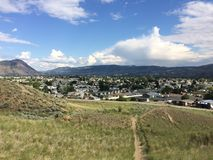 Hiking in the scenic beautiful Kamloops mountains. Hike in the Scenic Kamloops mountains Royalty Free Stock Images