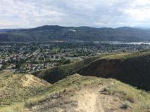 Hiking in the scenic beautiful Kamloops mountains Stock Photo