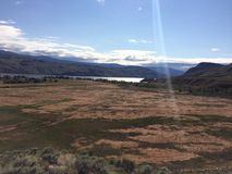 Hiking in the scenic Kamloops mountains. Hike in the Scenic Kamloops mountains Stock Images